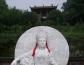 都江堰灵岩寺大型汉白玉观音佛像