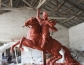 大型格萨尔王雕塑泥塑