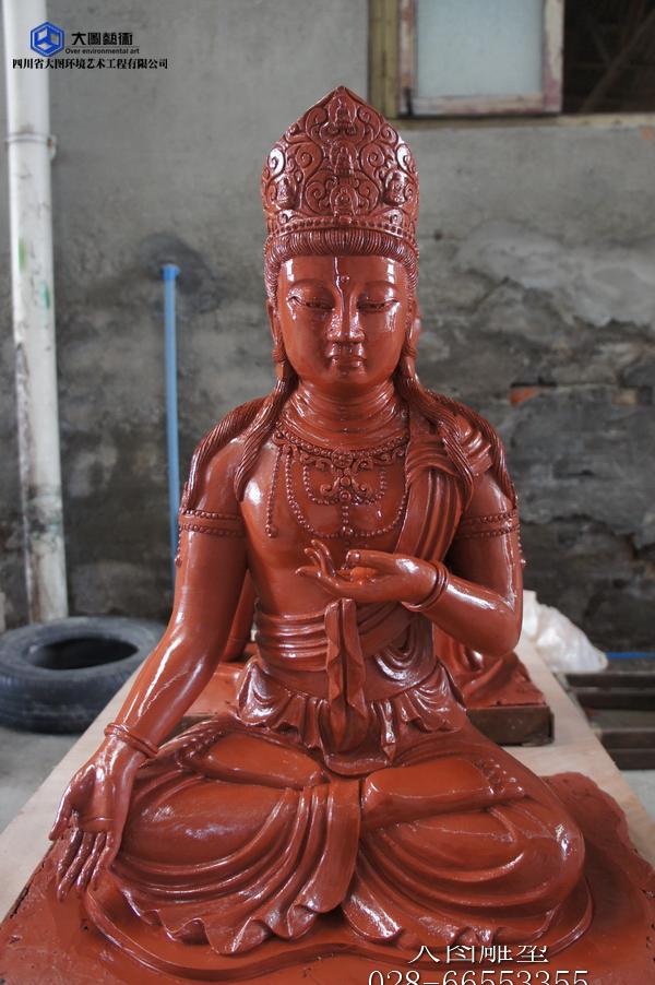 虚空藏菩萨雕塑泥塑3
