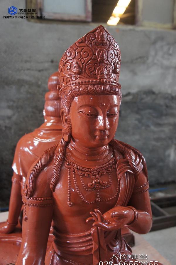 虚空藏菩萨雕塑泥塑1