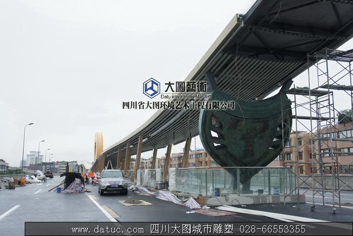 盾形雕塑 四川雕塑 城市雕塑设计 雕塑施工4