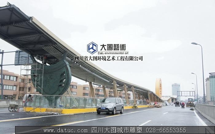 盾形雕塑 四川雕塑 城市雕塑设计 雕塑施工6