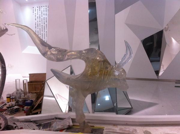大型水晶雕塑组三海经5