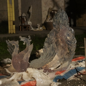 凤凰水晶雕塑-大图V2水晶 大型水晶雕塑