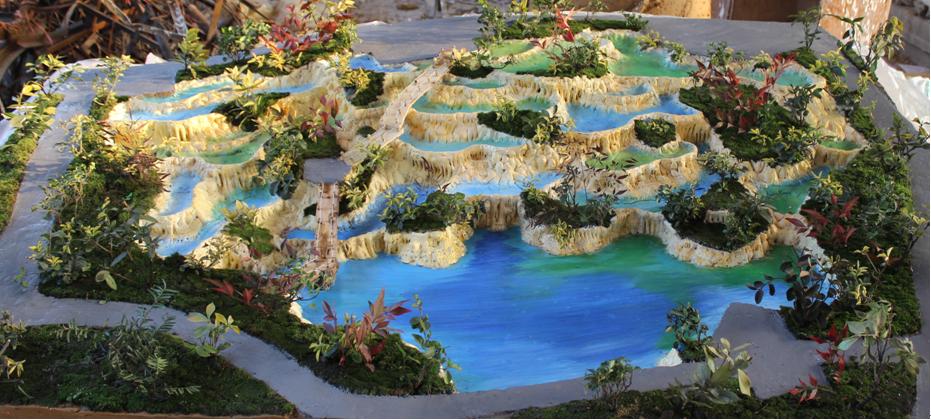 五彩池溶洞塑石工艺与流程说明