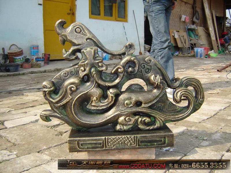 仿古雕塑 龙雕塑 青铜雕塑 铸铜雕塑2