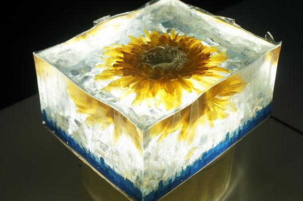 琥珀水晶 鲜花水晶