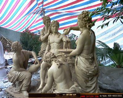 阿波罗会所人物群雕