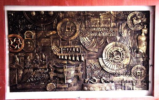 传统文化 图腾吉祥 仿古铜 浮雕墙 设计施工