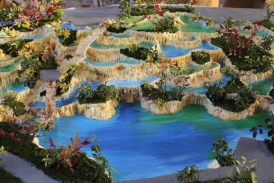 仿 黄龙五彩池 水景 假山塑石 造型