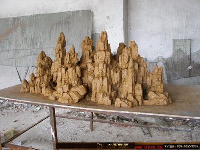 大型GRC假山造型-泥塑小样