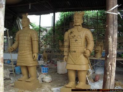 兵马俑 仿古铜雕塑