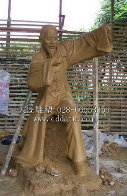 太极人物 仿古铜雕塑