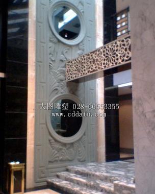 酒楼雕塑 餐饮文化 浮雕墙 仿古牌坊