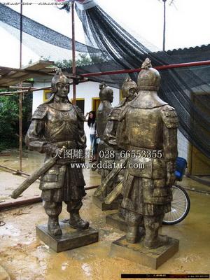 贵州护将坛三国人物群雕