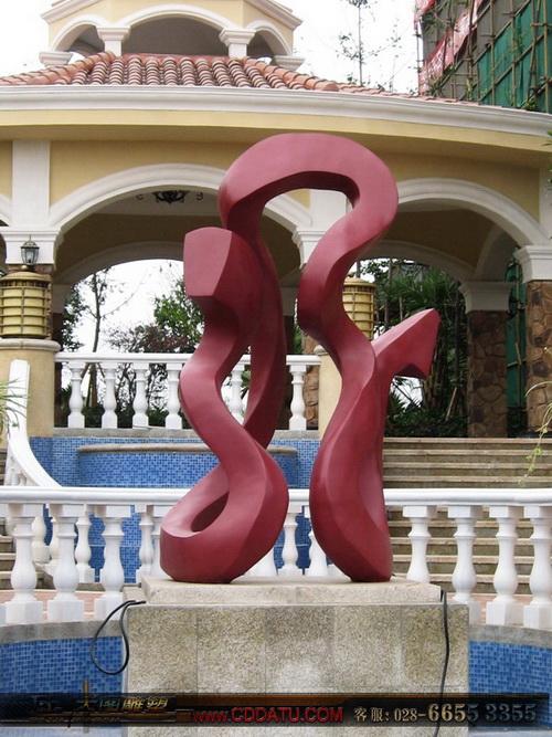 北湖龙郡 龙字雕塑 抽象雕塑