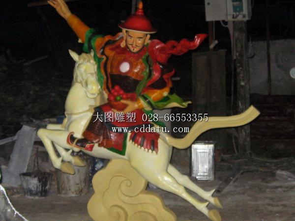阿坝博物馆格萨尔王彩绘雕塑