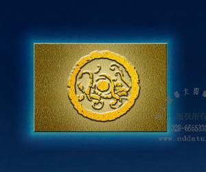青龙、白虎、朱雀、玄武 透光浮雕板设计