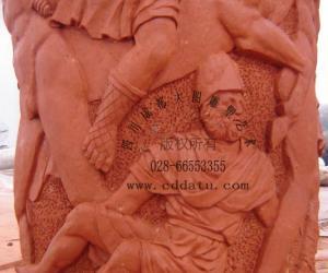 欧式 人物 群雕 景观柱 雕塑设计 雕塑创作 泥塑