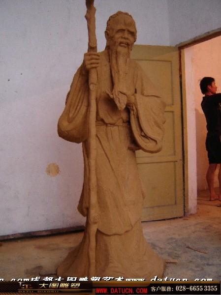 寿星 传统 人物 雕塑 设计 创作 泥塑