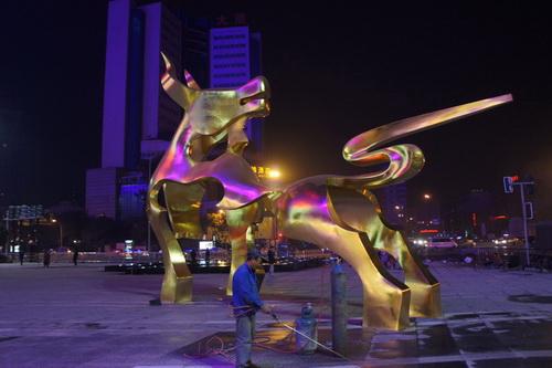 城市广场雕塑-金牛雕塑