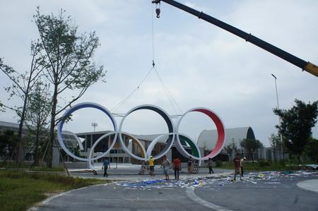 奥林匹克 雕塑 五环雕塑