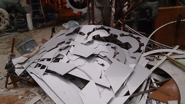 贵州六盘水 城市雕塑工程进度10月09日