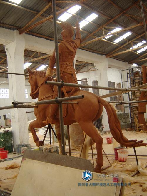 拿破仑大型雕塑泥塑-人骑马雕塑