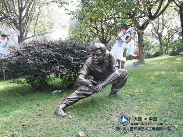 峨嵋派武术人物雕塑