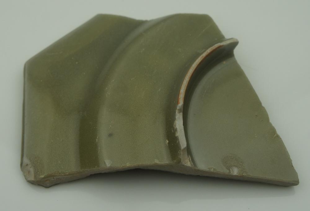 宋代 龙泉窑 八边 方盘 瓷片 标本