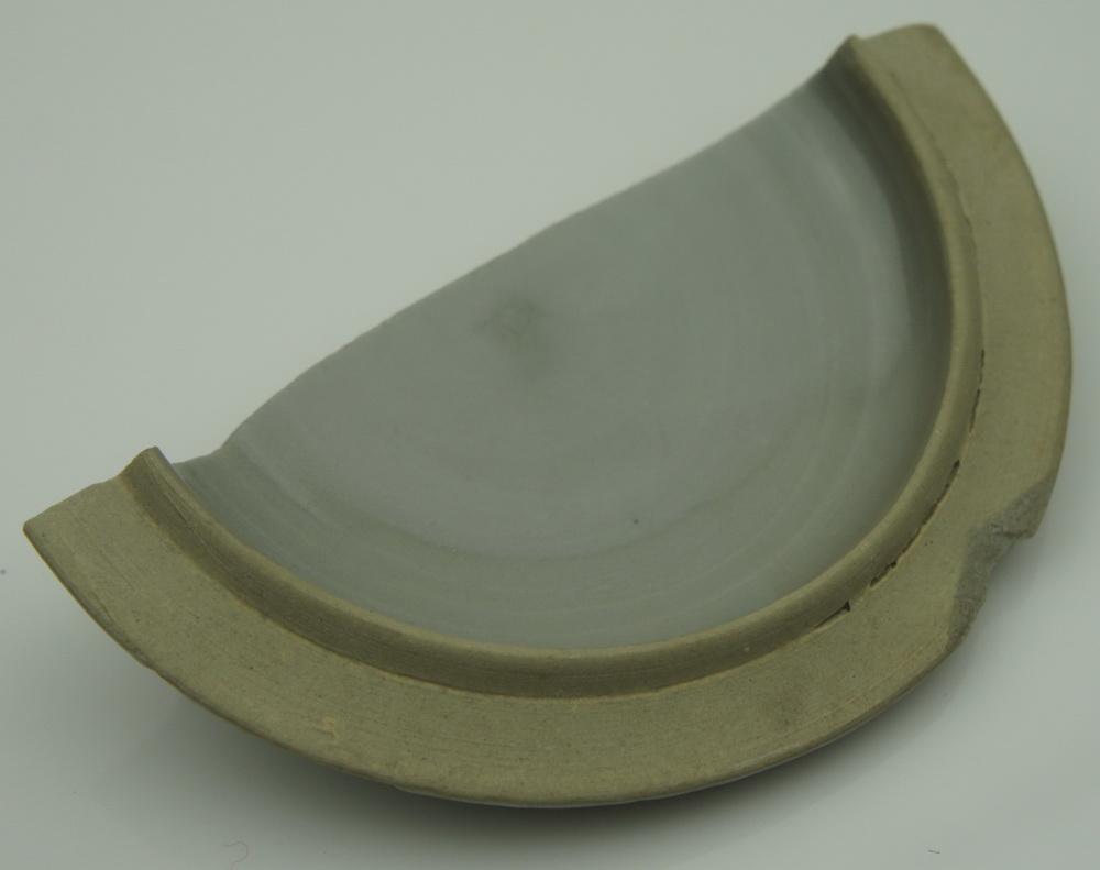 宋代 龙泉窑 盖罐盖 瓷片标本