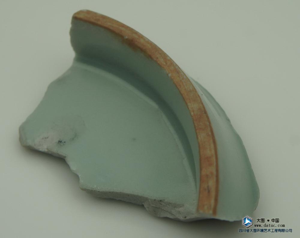 明代 龙泉窑 月白釉 瓷片标本