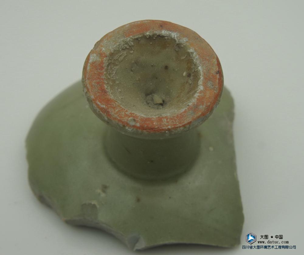元代 龙泉窑  高足杯 瓷片标本