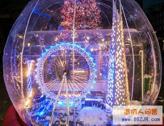 全球最大的空心玻璃球