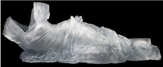 水晶人体雕塑 水晶人体艺术 水晶时装 水晶模特 水晶艺术