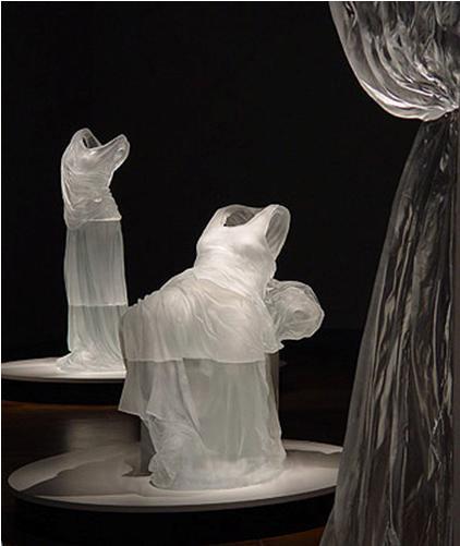 水晶服装 水晶时装 水晶展柜服装 水晶展柜时装 水晶雕塑定制