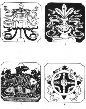 藏传佛教 八宝吉祥 藏族建筑 建筑装饰 传统图案
