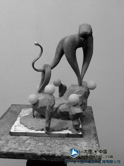 白虎雕塑 五行雕塑 老虎雕塑 雕塑原创设计