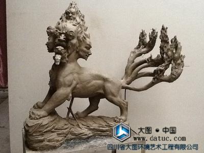 天吴-山海经雕塑(泥塑小样 原创设计) 中国神话传说故事