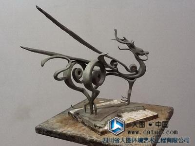 麒麟雕塑(泥塑小样)原创设计
