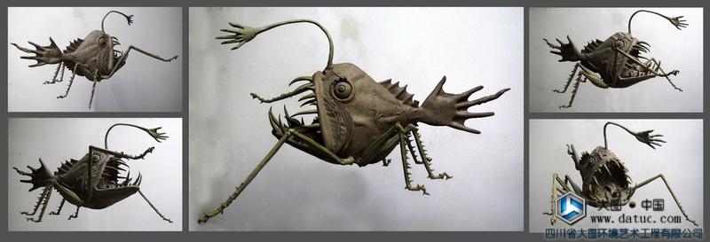 冉遗鱼 Shanhaiching 山海经神兽雕塑创作、设计