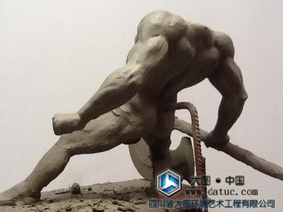 刑天 borner  山海经人物雕塑创作、设计 雕塑泥塑原创、雕塑设计创作、民间传说故事