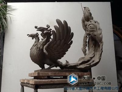 鵸余 山海经 / 三头六尾的鸟  山海经 民间传说 神话故事 神兽 动物雕塑 创作设计
