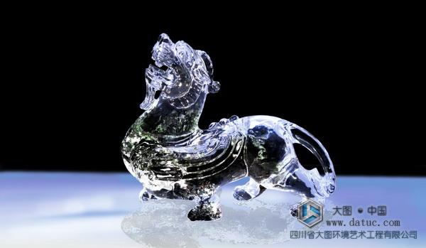 大型 水晶雕塑 透明雕塑 玻璃雕塑 亚克力雕塑 - 貔貅