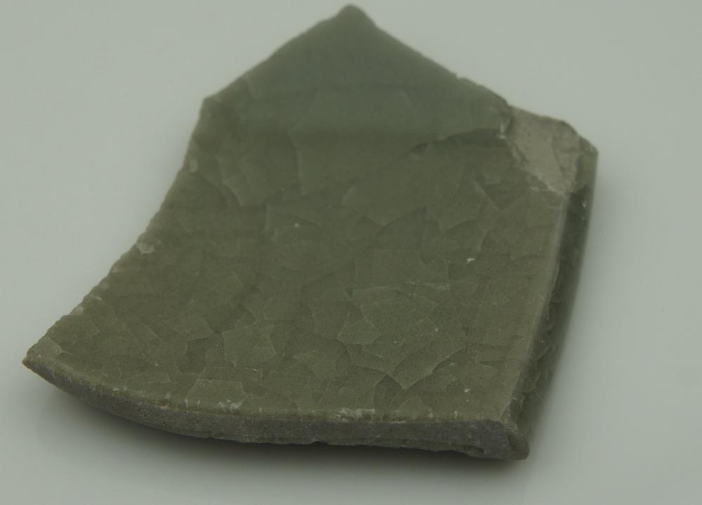 宋代 龙泉窑 仿官窑 瓷片标本 冰裂纹