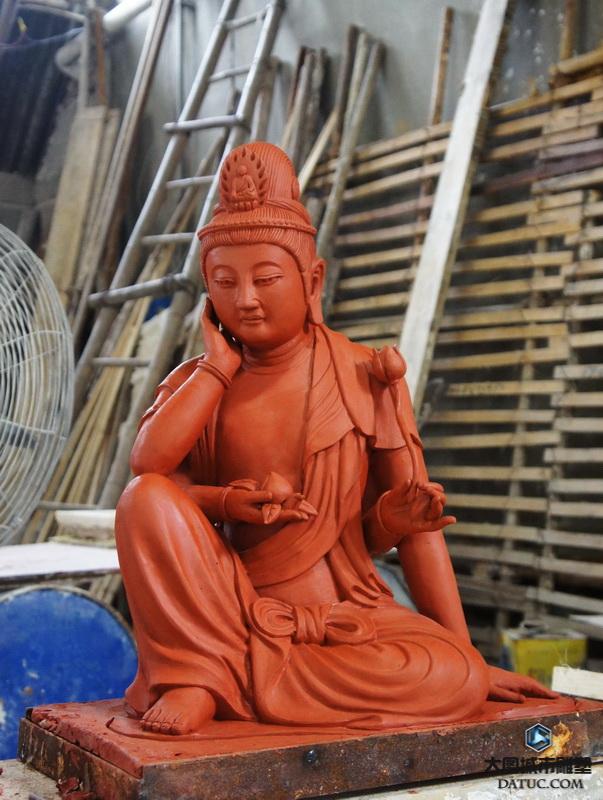 大势至菩萨泥塑 大势至菩萨雕塑  大势至菩萨泥塑像 大势至菩萨泥塑塑像