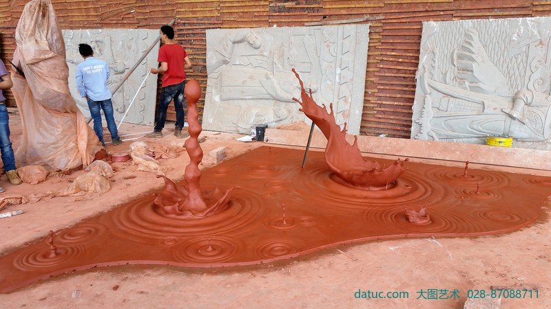 大型雕塑 城市雕塑 水滴雕塑 水晶雕塑 透明雕塑 泥塑创作 雕塑设计 雕塑创作