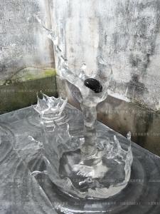 水晶水滴 水波雕塑 水花雕塑 水浪雕塑 透明水滴 水滴雕塑 仿水雕塑 仿冰雕塑 透明雕塑