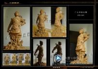 广元二郎神大型石刻泥塑小样创作