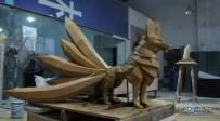 九尾狐 泥塑原创 雕塑创作  四川成都雕塑设计、大图成都雕塑厂
